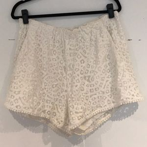 H&M White Lace Shorts